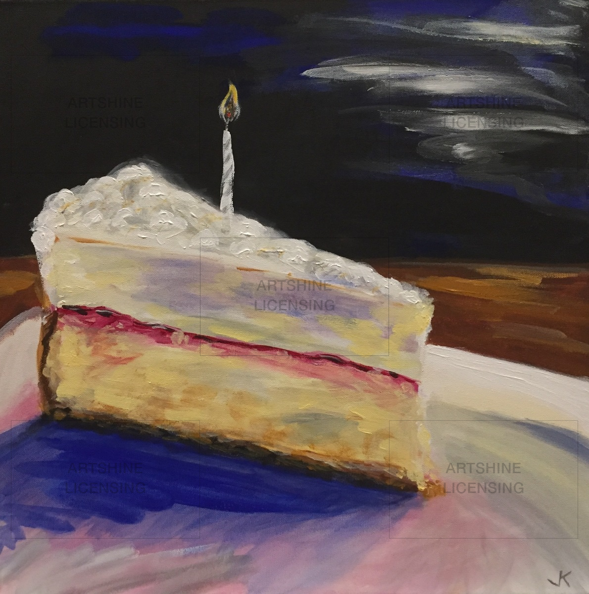 Cheesecake with Candle