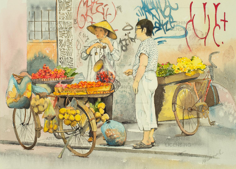 Fruit Seller – Hanoi, VIETNAM