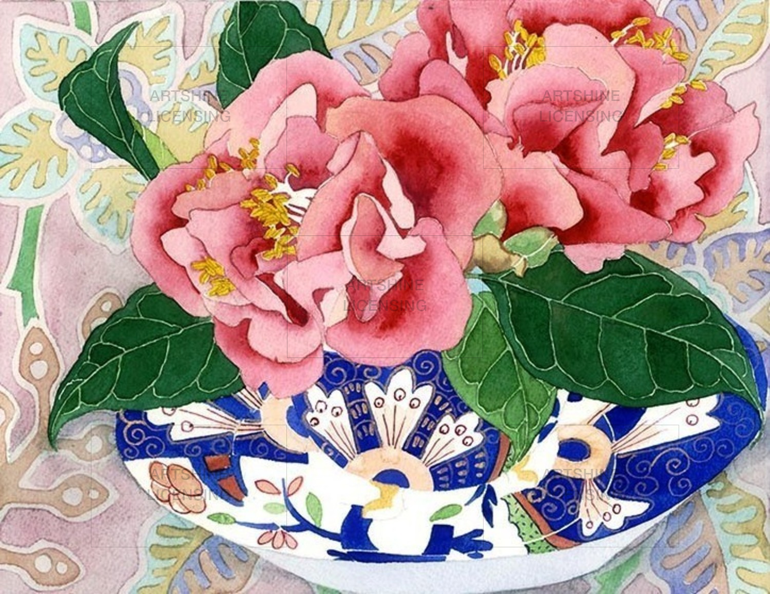 Camellias in a teacup