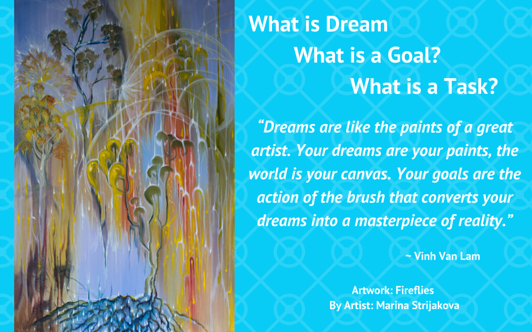 What is Dream?, what is Goal? and what is task?