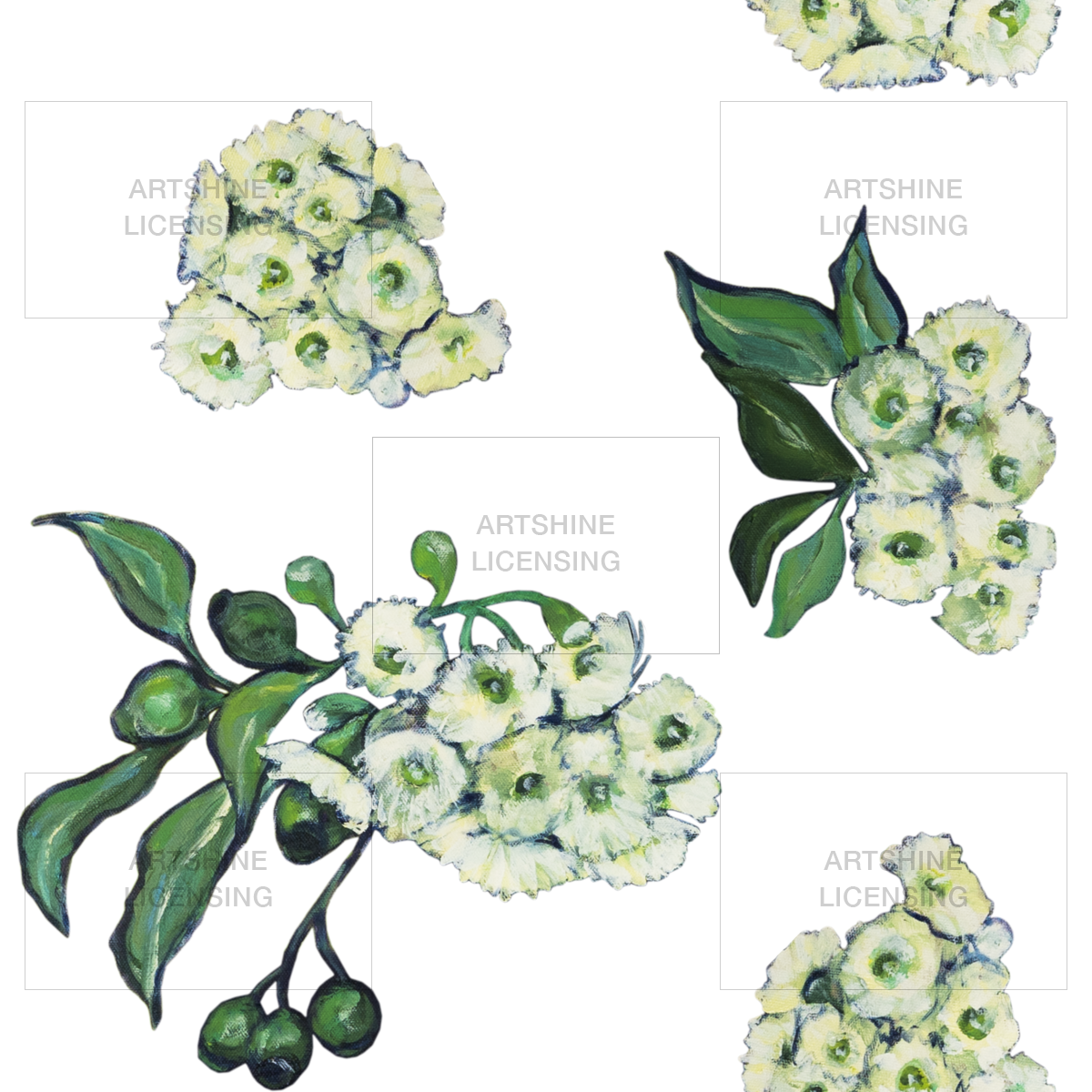 Gum Blossoms (Repeat Pattern)