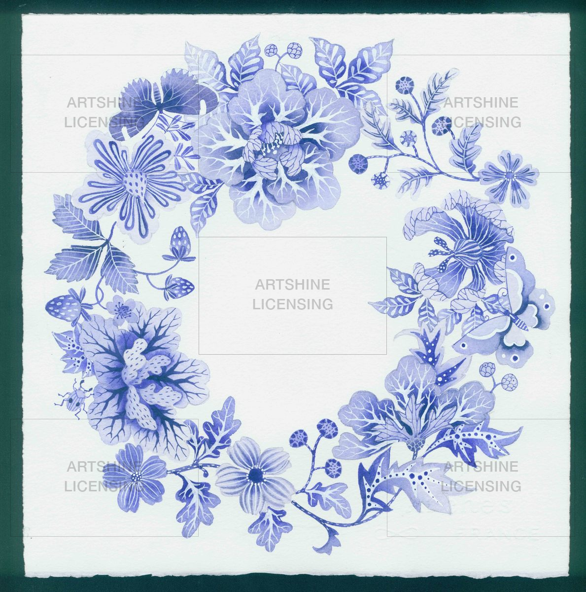 Blue and White Wreath #2