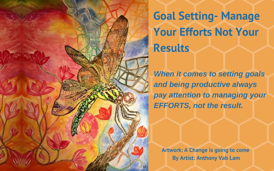 Goal Setting- Manage Your Efforts Not Your Results