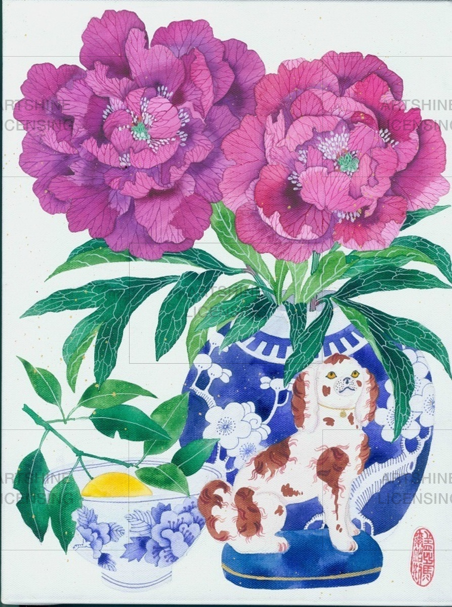 Chinoiserie Staffordshire dogs