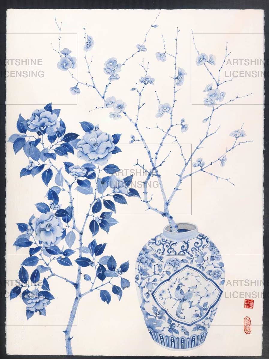 Blue and white chinoiserie 1