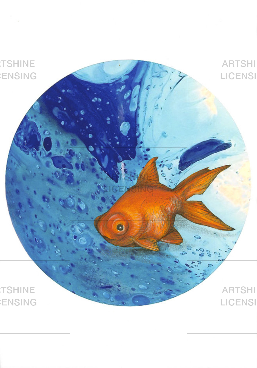 You Looking At Me -Goldfish On Blue
