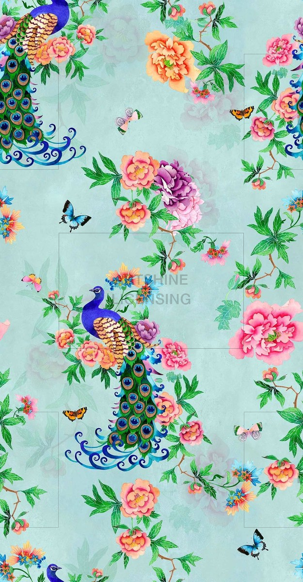 art nouveau peacock