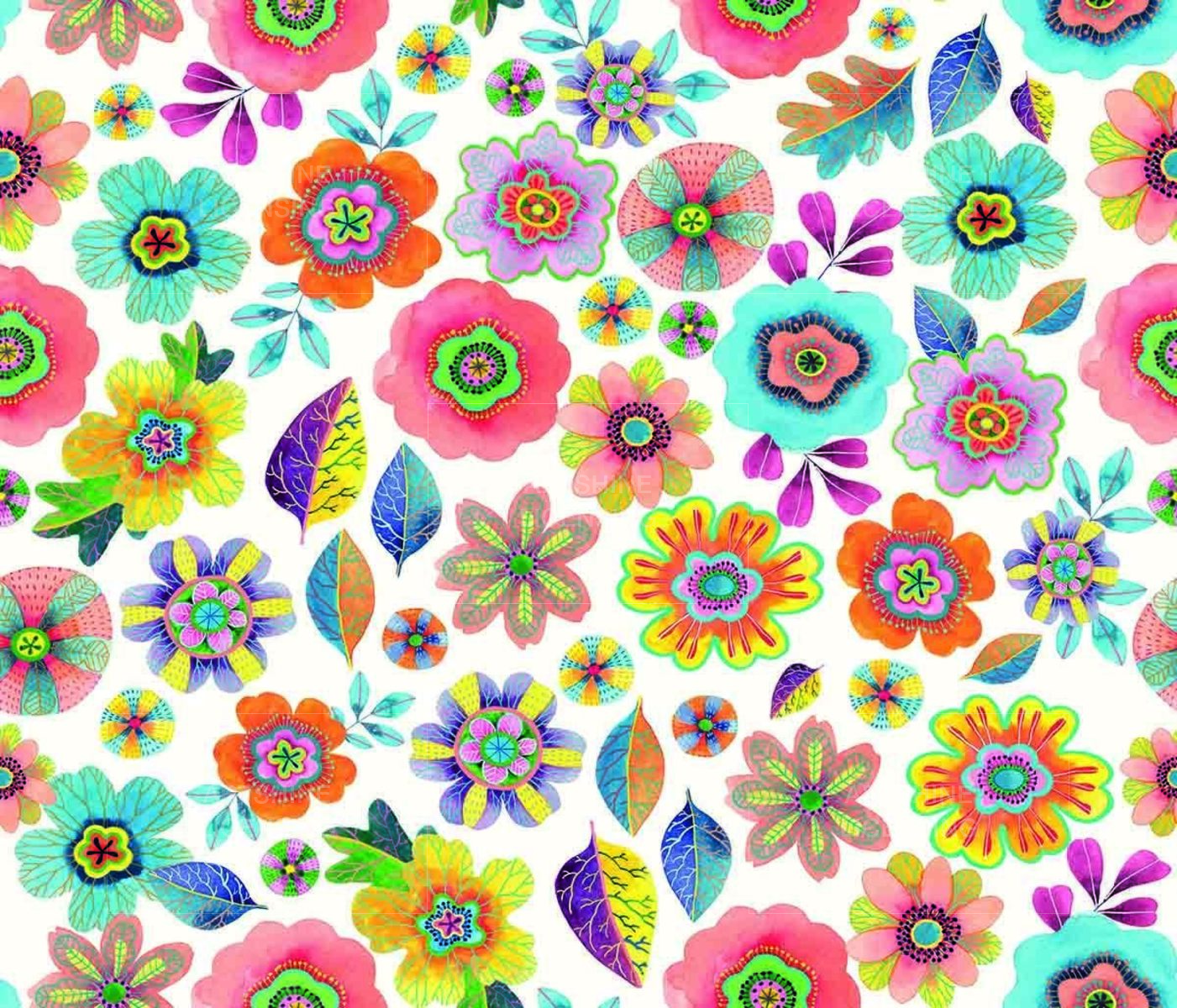 Abstract floral pattern repeat