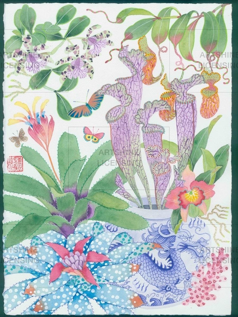 Garden of Eden 13: blue dragon pot
