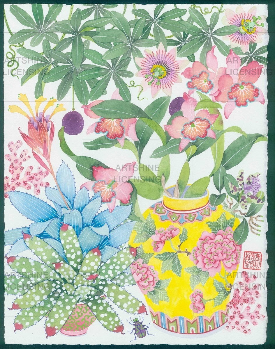 garden of Eden: Peranakan pot