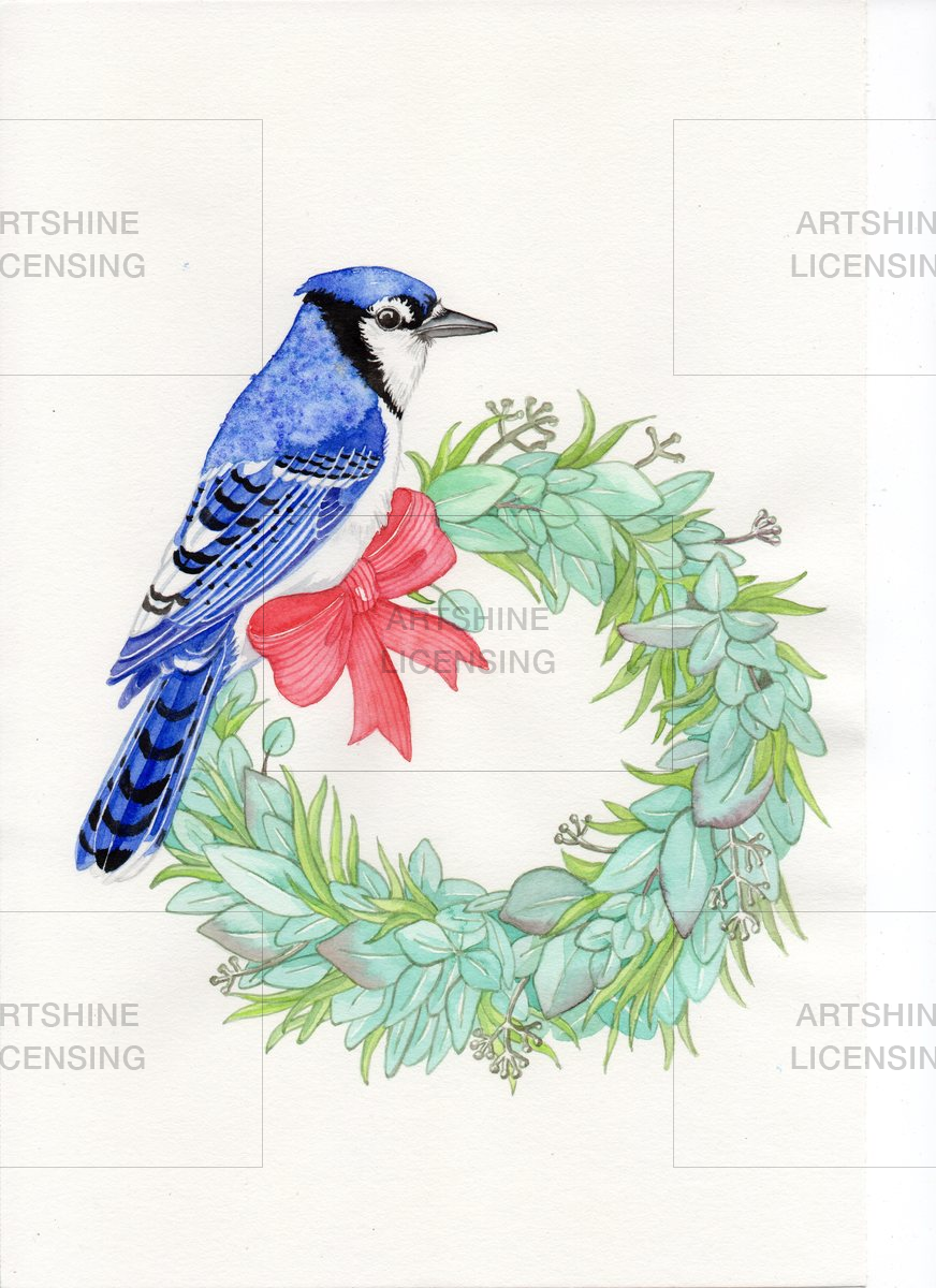 Bluejay wreath