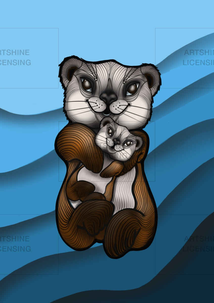 Otto The Otter With His Mum