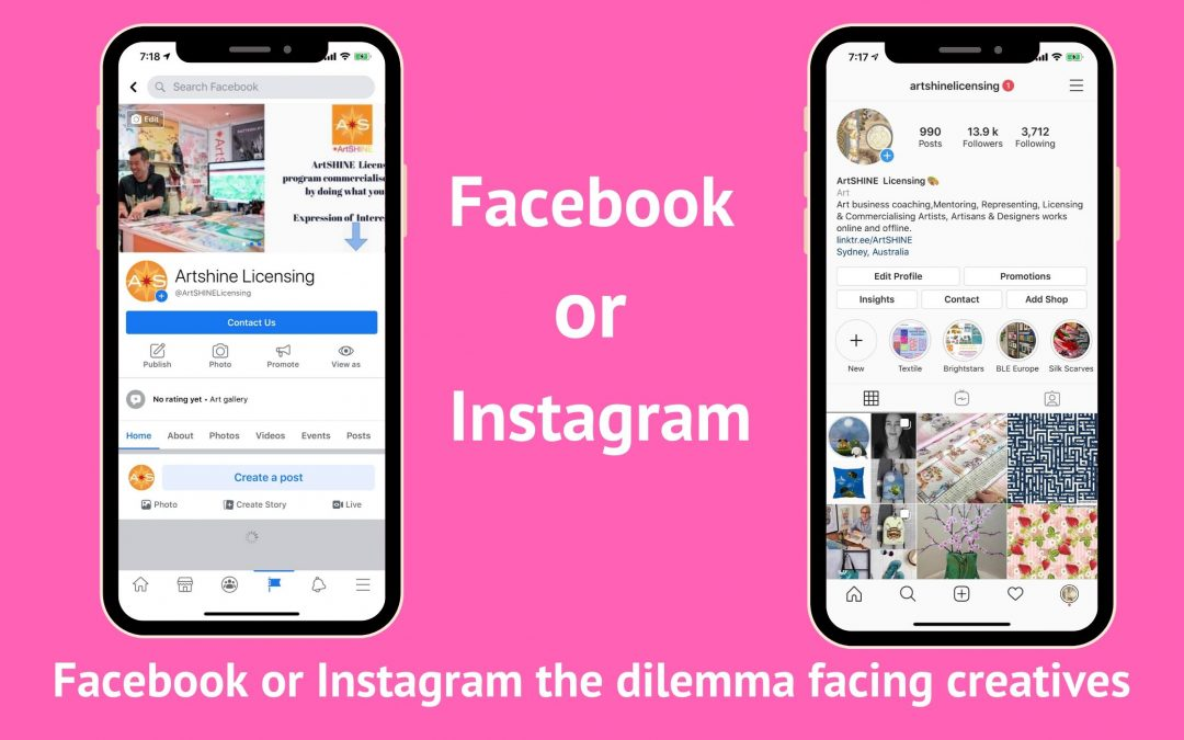 Facebook or Instagram: the dilemma facing creatives