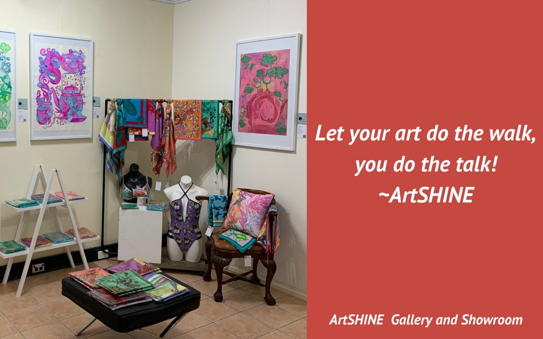 Let your art do the walk, you do the talk!