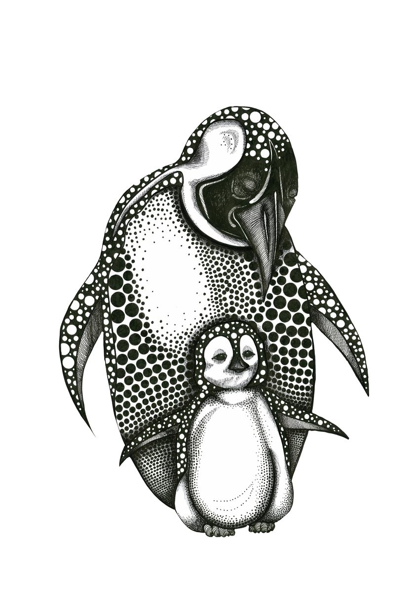 *Mother Penguin and baby CB